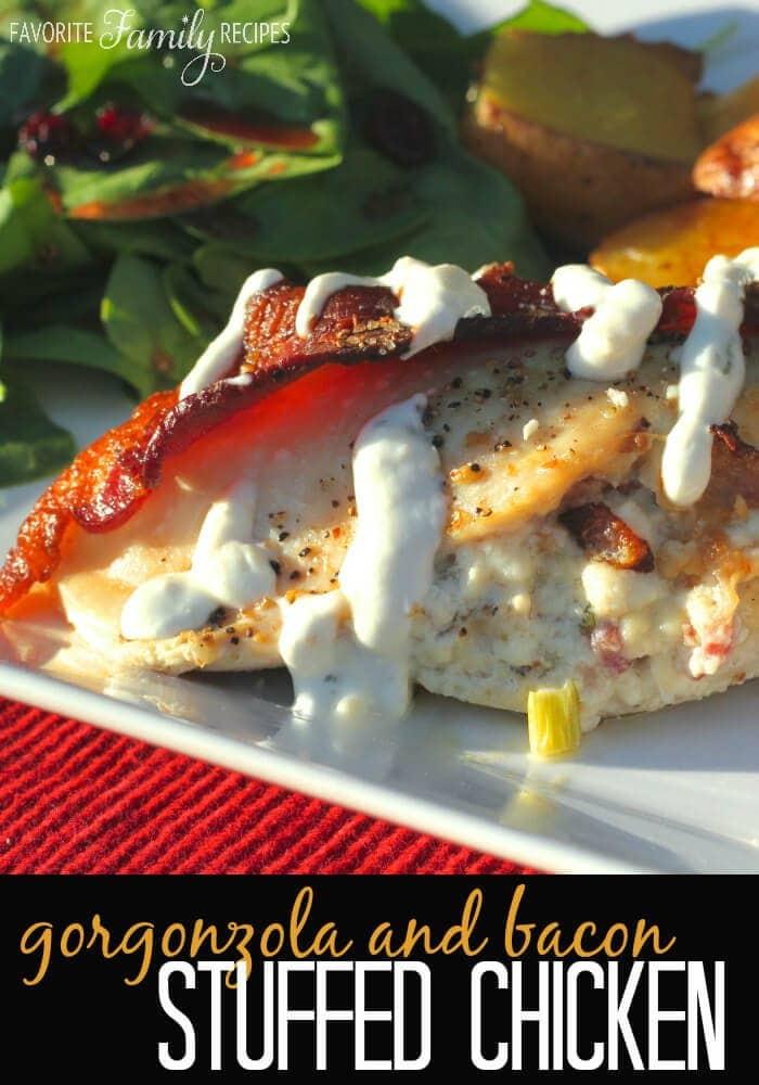 Gorgonzola & Bacon Stuffed Chicken Breasts