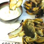 Grilled Artichokes with Lemon Mayo Dip