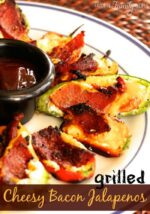 Grilled Cheesy Bacon Jalapenos