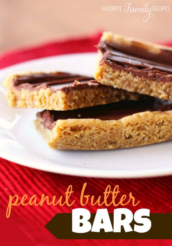My sister made these peanut butter bars the other day and I think I ...
