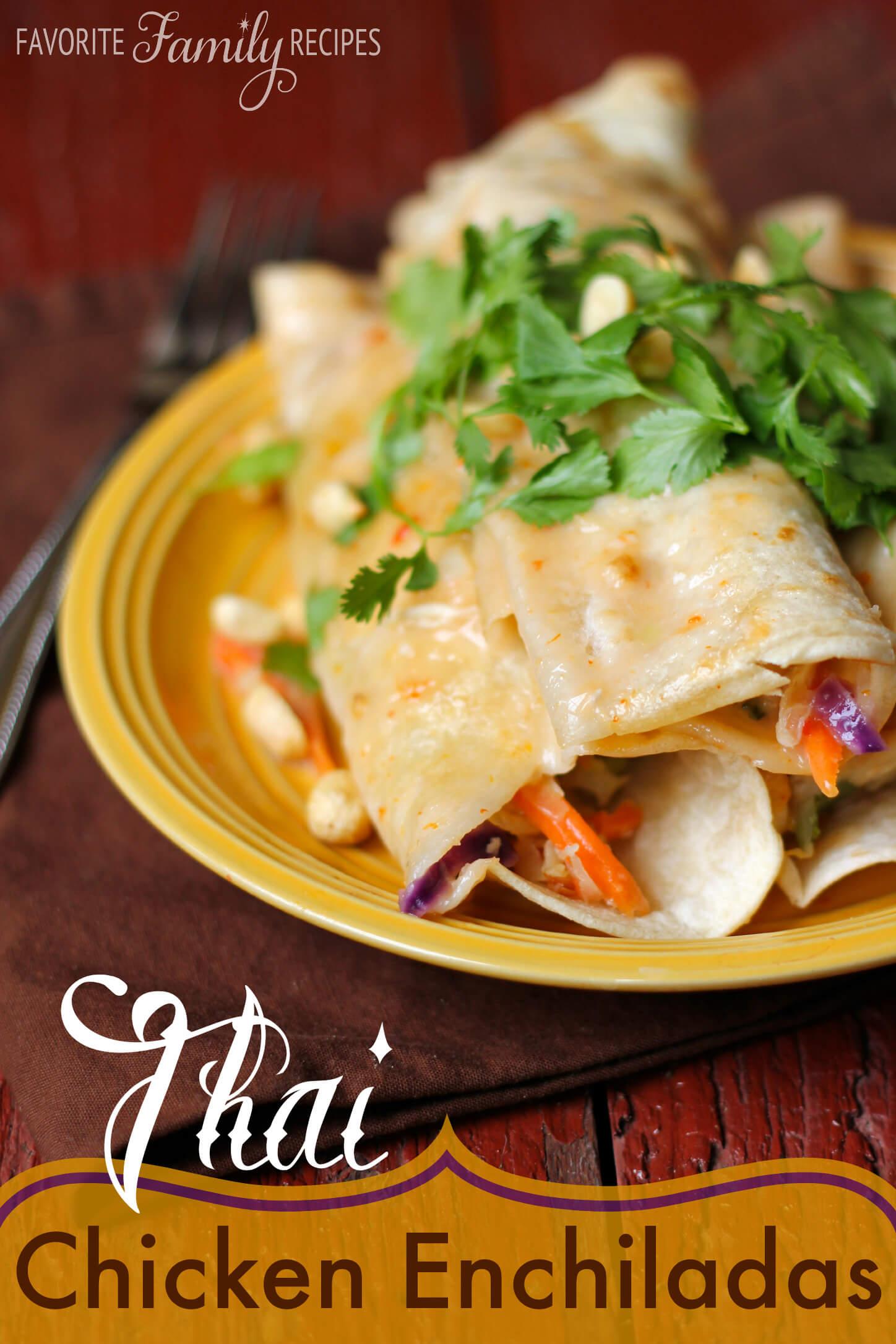 Thai Chicken Enchiladas