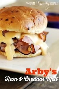 Arbys Ham and Cheddar Melt