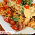 Cheesy Grilled Mexican Chicken and Rice Recipe