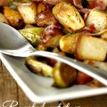 Roasted Potatoes and Brussel Sprouts with Bacon Recipe