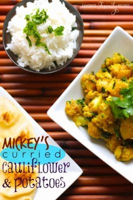 Mickeys Curried Cauliflower and Potatoes
