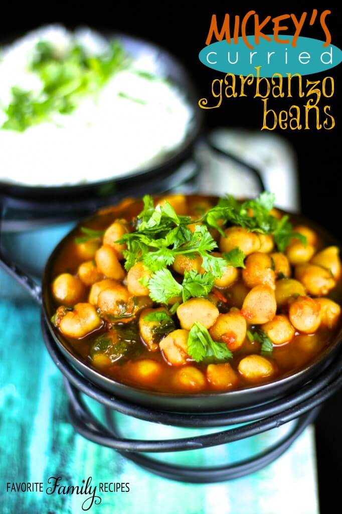 Mickeys Curried Garbanzo Beans