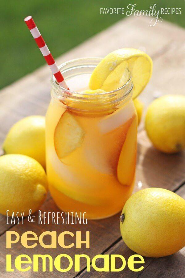 Easy Peach Lemonade (no lemon squeezing!) | Favorite ...