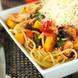 Grilled Chicken Pasta Primavera Recipe