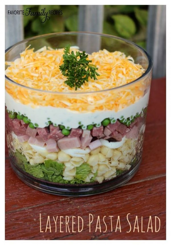 Layered Pasta Salad