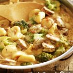 Creamy One Pot Tortellini with Sausage