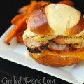 Grilled Pork Loin and Apple Burgers