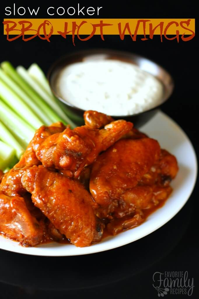 Slow Cooker BBQ Hot Wings