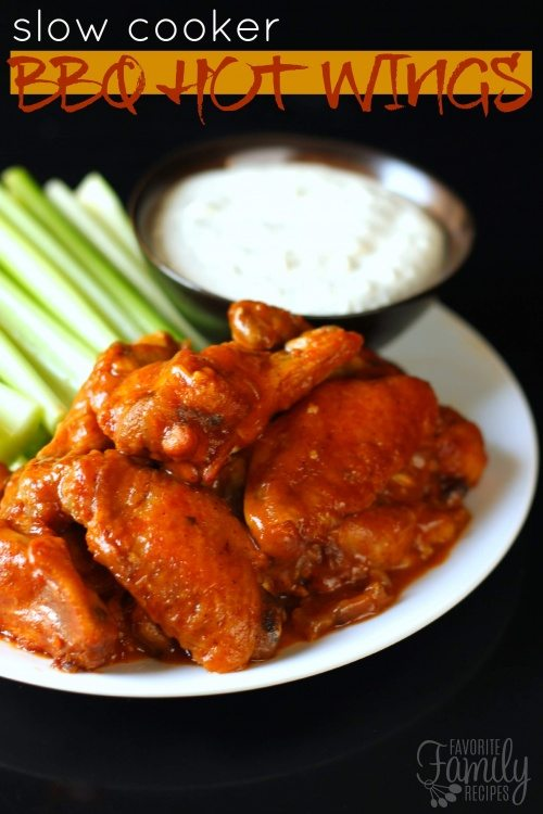 Slow Cooker BBQ Hot Wings with Blue Cheese DipSlow Cooker BBQ Hot Wings with Blue Cheese Dip