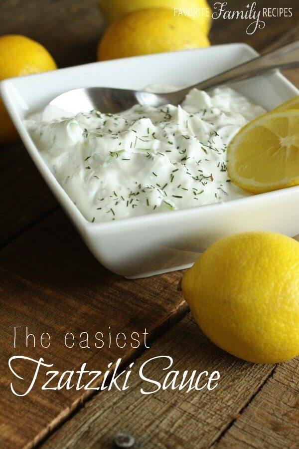 The Easiest Tzatziki Sauce | Favorite Family Recipes