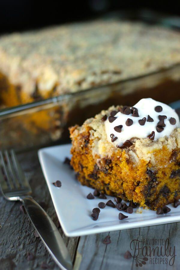 Chocolate Chip Pumpkin Coffee Cake Recipe