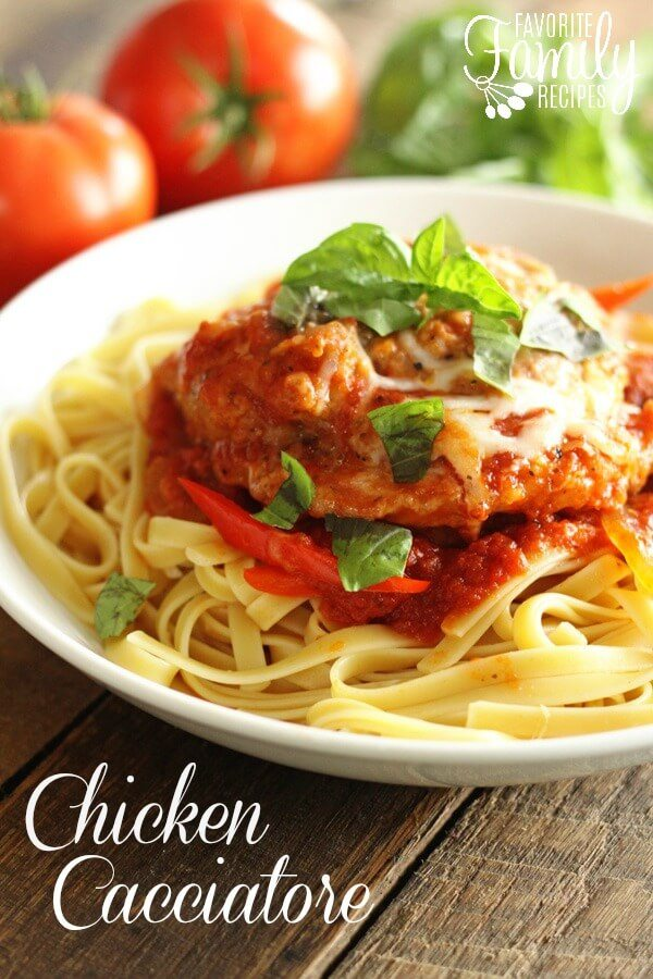Easy Chicken Cacciatore | Favorite Family Recipes