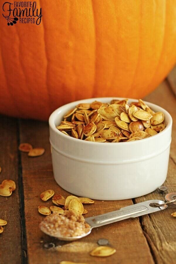 Sweet and Spicy Pumpkin Seeds | Favorite Family Recipes