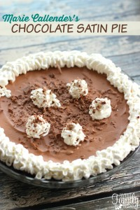 Marie Callenders Chocolate Satin Pie Recipe