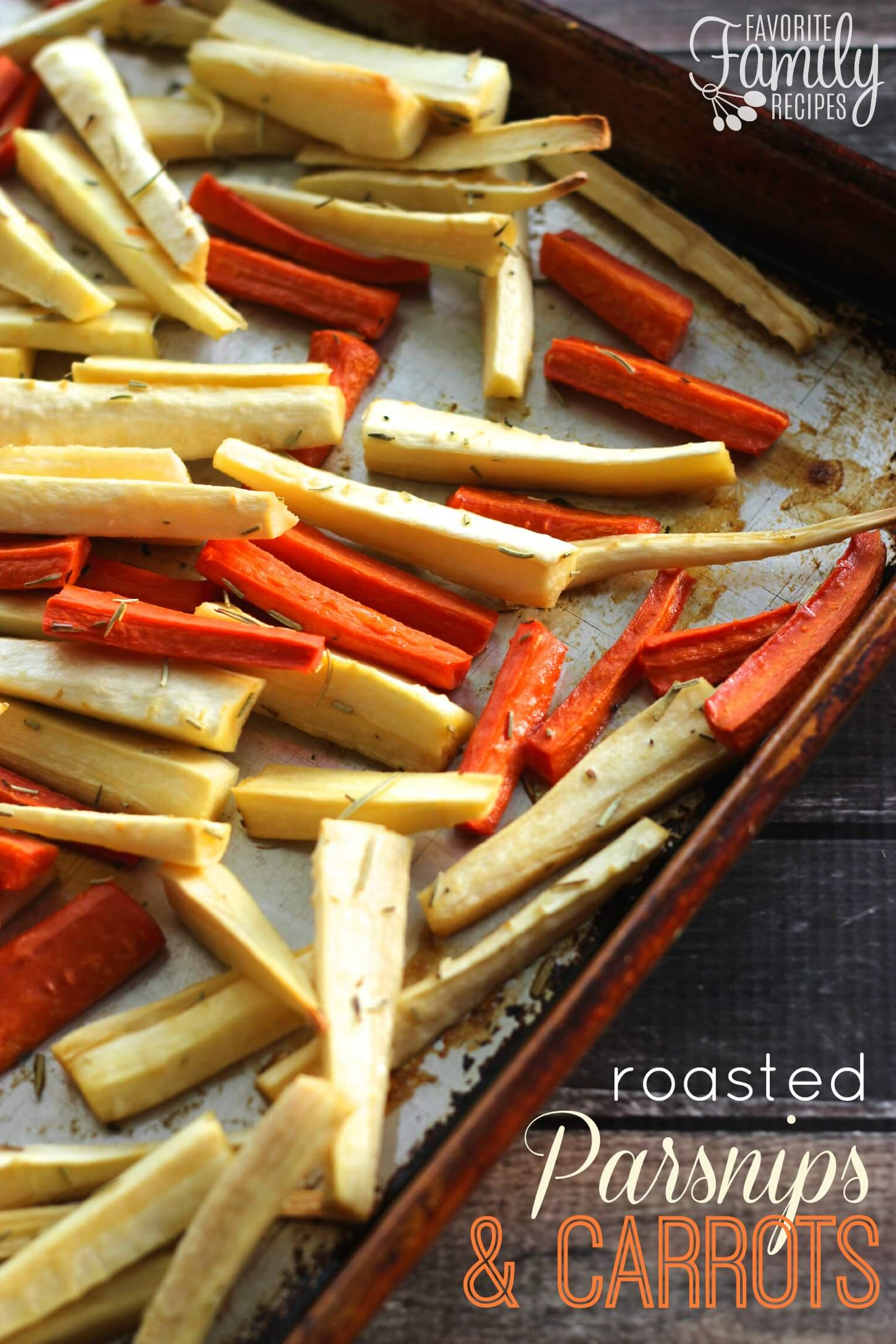 roasted parsnips and carrots are a colorful healthy and delicious side ...
