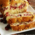 Cranberry Almond Cream Cheese Swirl Bread