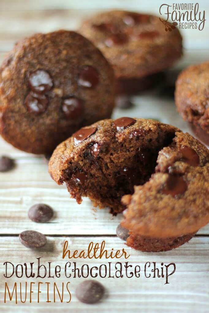 Healthier Double Chocolate Chip Muffins | Favorite Family Recipes