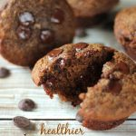 Healthier Double Chocolate Chip Muffins