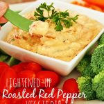 Lightened Roasted Red Pepper Dip