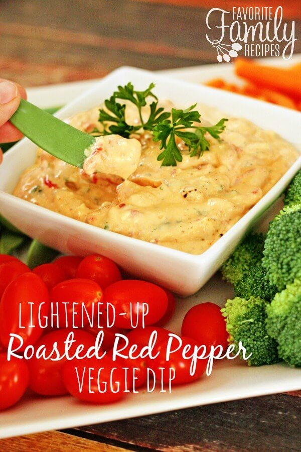 Lightened-up Roasted Red Pepper Dip | Favorite Family Recipes