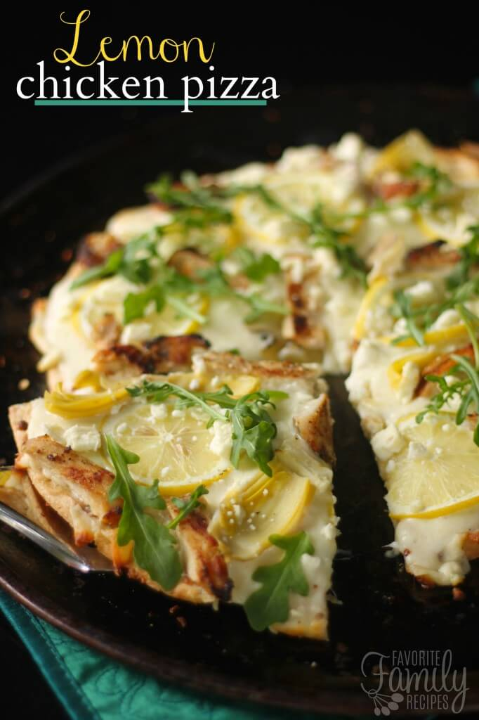 Lemon Chicken Pizza