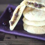 Raisin Stuffed Shortbread Cookies
