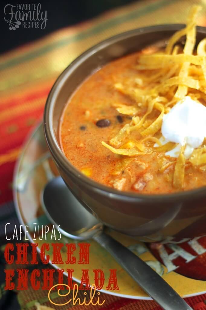 Cafe Zupas Chicken Enchilada Chili