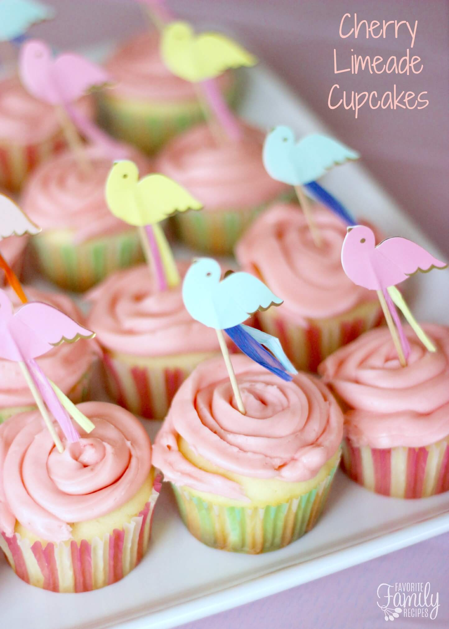 to the fresh lime flavor in these cherry limeade cupcakes is the lime ...