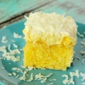 Hawaiian Wedding Cake with Coconut Topping