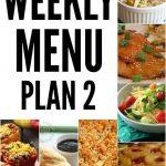 Weekly Menu Plan 2