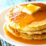 Orange Creamsicle Pancakes with Orange Syrup