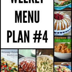 Weekly Menu Plan 4