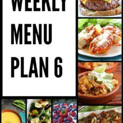 Weekly Menu Plan 6