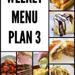 Weekly Menu Plan 3