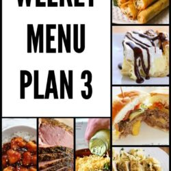 Weekly Menu Plan 3