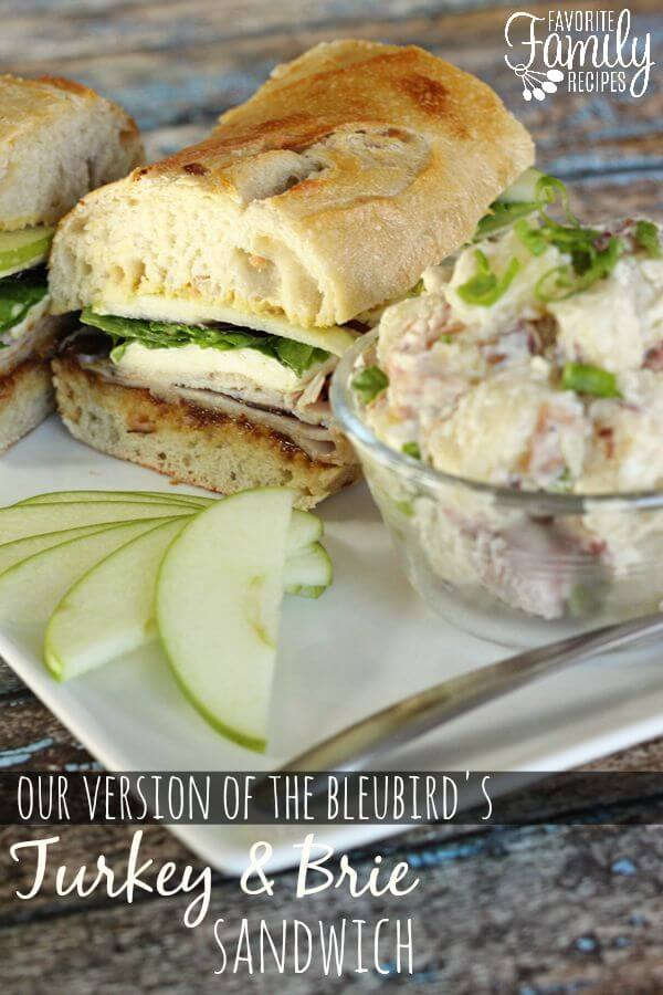 Our Version of The Bleubird's Turkey and Brie Sandwich