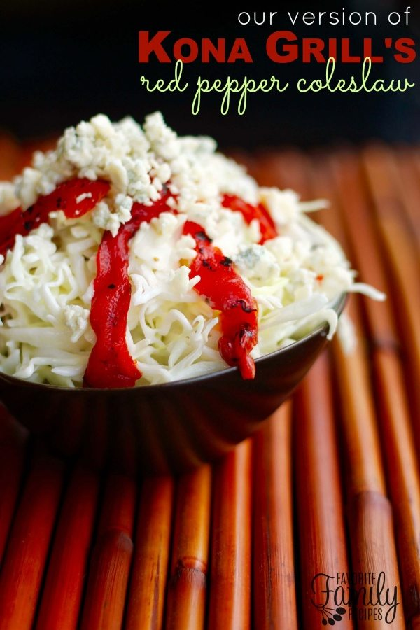 Kona Grill's Red Pepper Coleslaw
