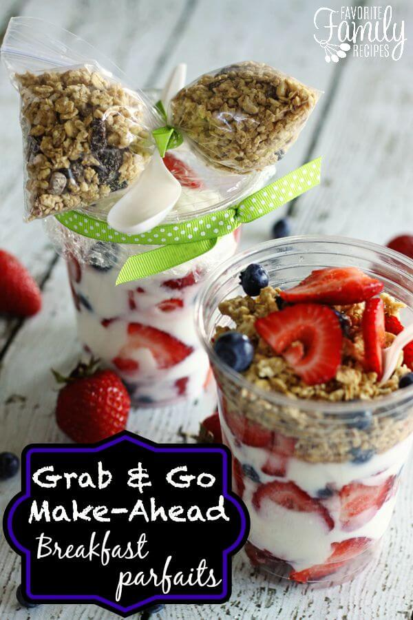 Make Ahead Breakfast Parfaits
