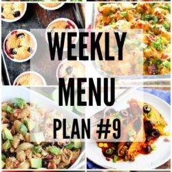 Weekly Menu Plan 9