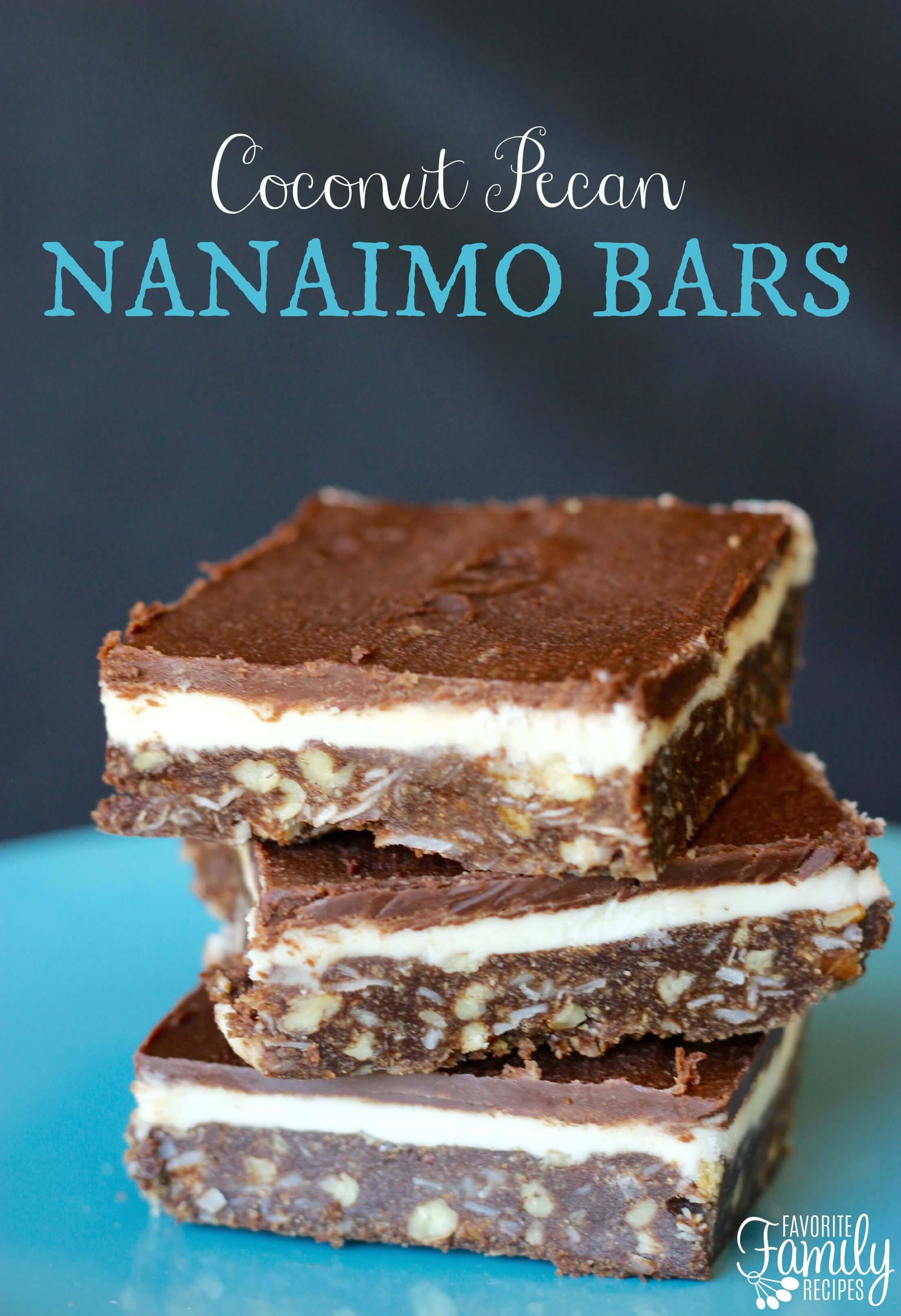 Coconut Pecan Nanaimo Bars -Favorite Family Recipes