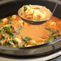 Slow Cooker Cheese Tortellini Soup