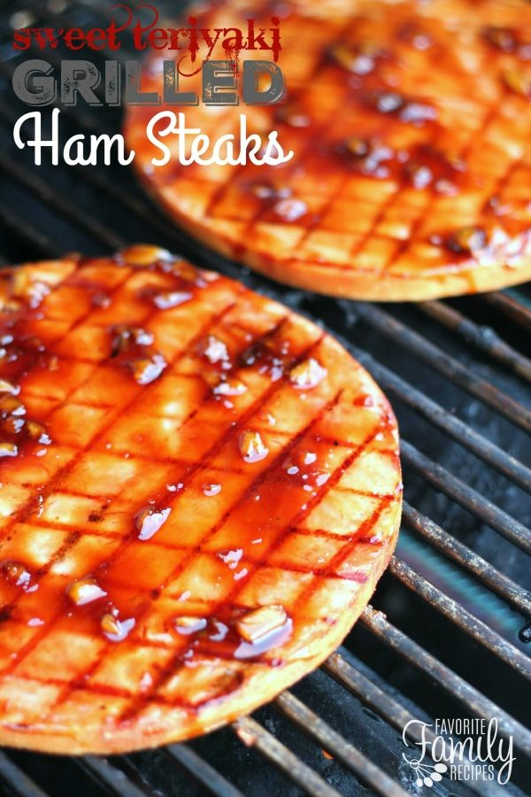 Sweet Teriyaki Grilled Ham Steaks