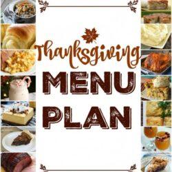 Thanksgiving Weekly Menu Plan
