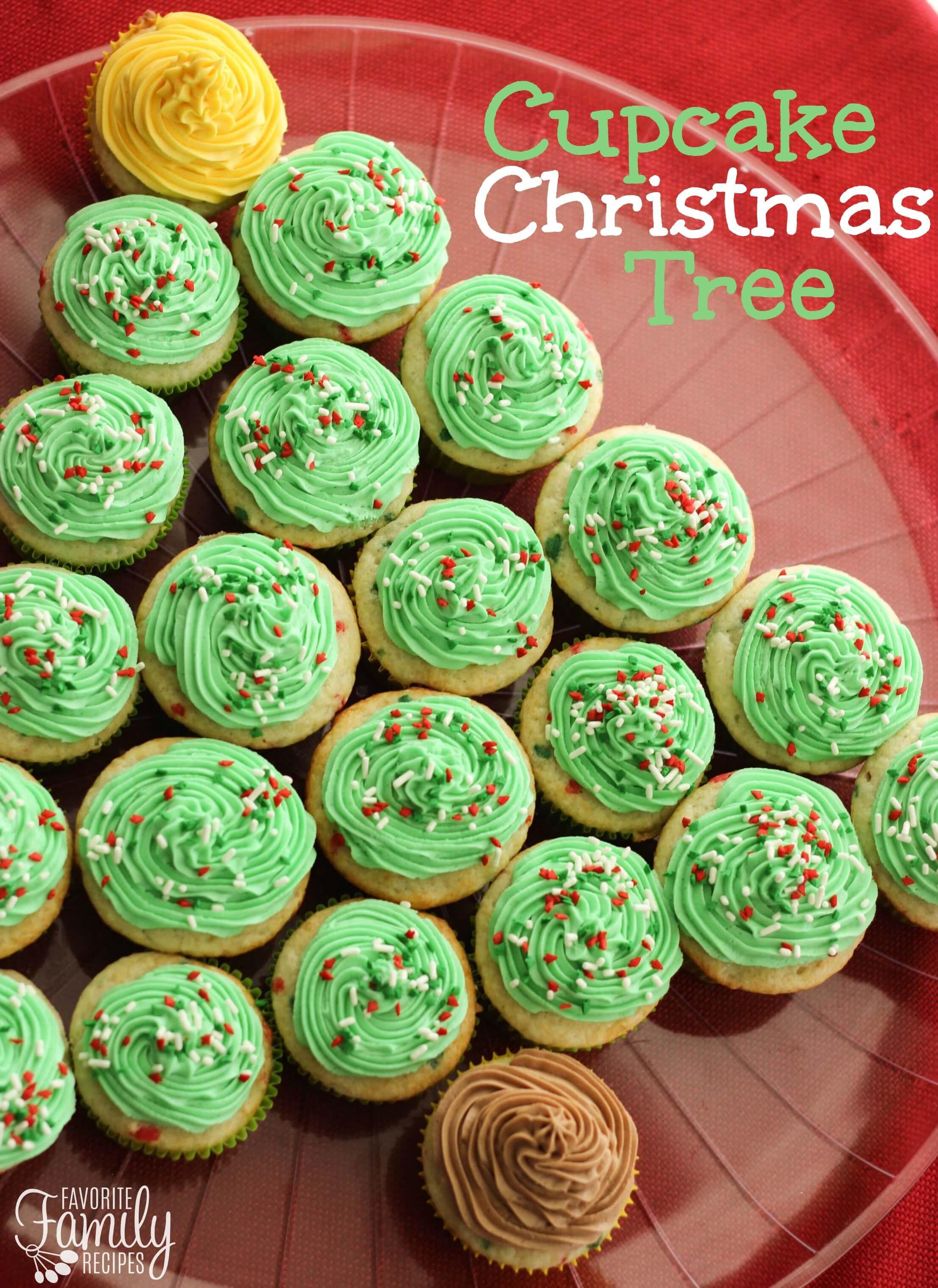 Cupcake Christmas Tree | Favorite Family Recipes