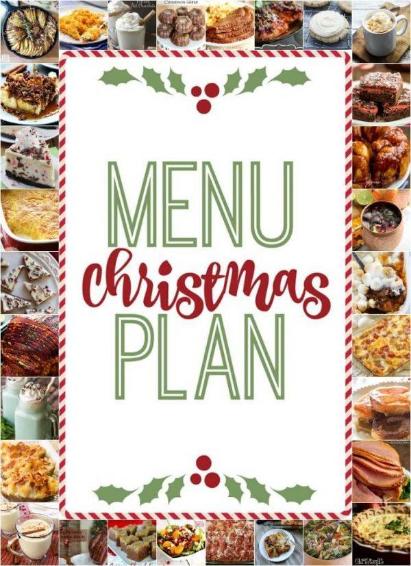 Christmas menu plan favorite family recipes - Christmas menu pinterest ...