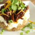 BBQ Beef Twice Baked Potatoes